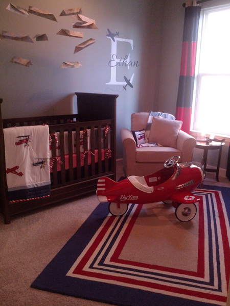 nursery with airplanes