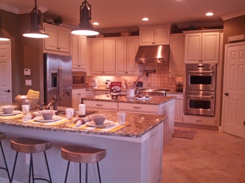 kitchen with white cabinets and stainless steel appliances