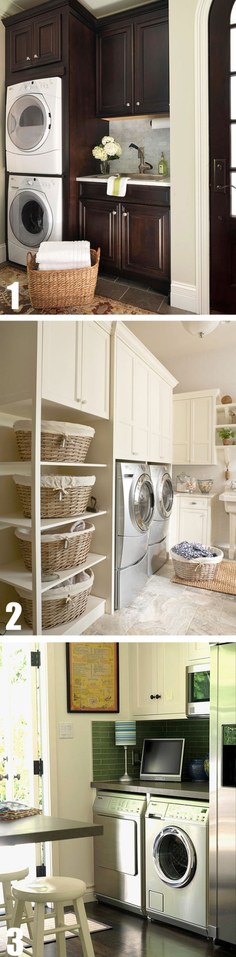 3 laundry rooms