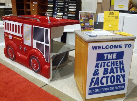 The Kitchen and Bath Factory Firetruck Kid's Bathtub