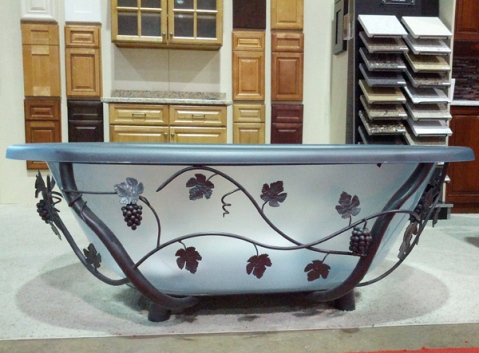 The Kitchen and Bath Factory Scroll Freestanding Bathtub