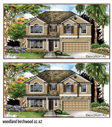 The Birchwood starts at  $278,900 and features 4 beds and 2 1/2 baths.