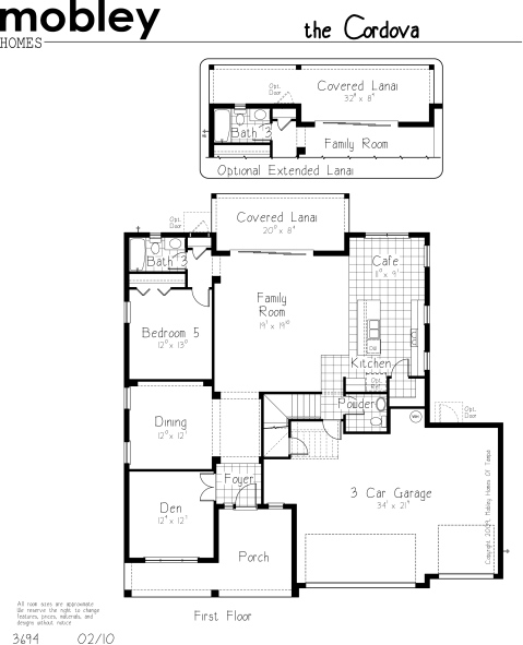 Cordova Floor Plan