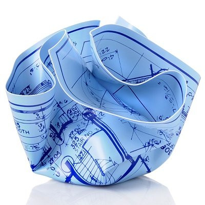 Blueprint Paperweight for Architects and Builders