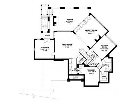 Sun Filled Craftsman Cottage Floor Plan