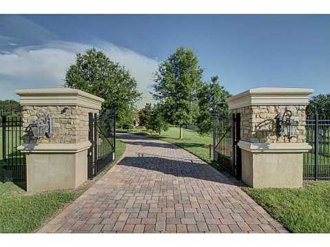 Luxury Mediterranean Estate For Sale in Odessa, FL:  Private Gated Entry