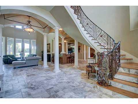 Luxury Mediterranean Estate For Sale in Odessa, FL:  Curved Staircase