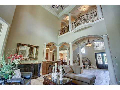Luxury Mediterranean Estate For Sale in Odessa, FL:  Two Story Living Room