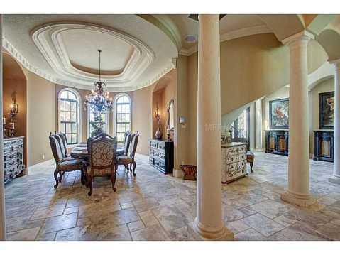 Luxury Mediterranean Estate For Sale in Odessa, FL:  Dining Room