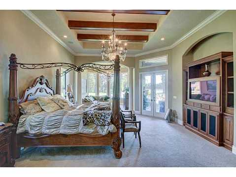 Luxury Mediterranean Estate For Sale in Odessa, FL:  Master Suite with French Doors to Balcony