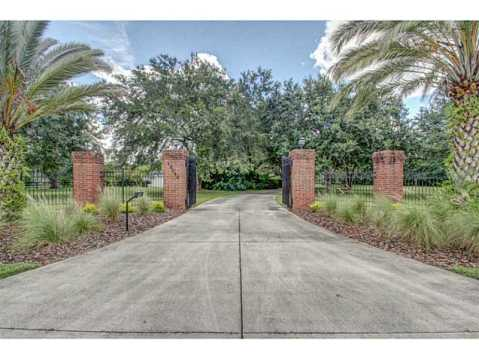 Beautiful Brick Estate for Sale in Odessa:  Private Gated Entry