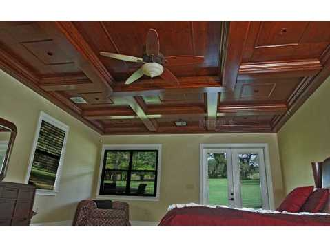 Custom Equestrian Estate for Sale in Plant City:  Detailed Coffered Ceiling