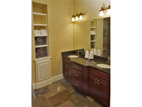 Custom Equestrian Estate for Sale in Plant City:  Bathroom with Built Ins