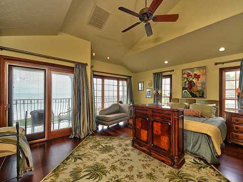 "Beachfront ""Castle"" for Sale in Redington Beach, FL:  Large, Vaulted Master Suite with View of Gulf of Mexico"