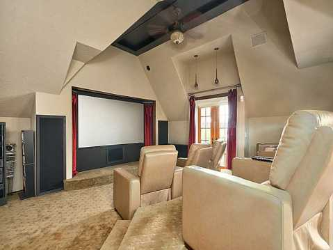 "Beachfront ""Castle"" for Sale in Redington Beach, FL:  Media Room"