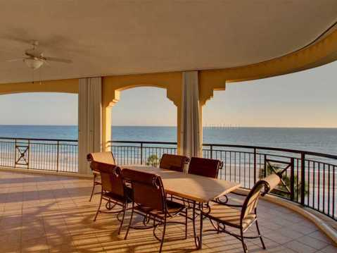 Beachfront Vizcaya Condo with Wraparound Terrace for Sale: stuning view of Florida's sunsets over the Gulf of Mexico