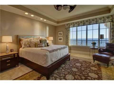 Beachfront Vizcaya Condo with Wraparound Terrace for Sale:  a Master Suite with a view of the Gulf of Mexico