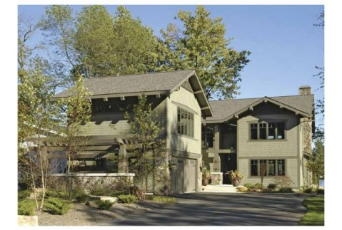 Modern Craftsman Home Plan