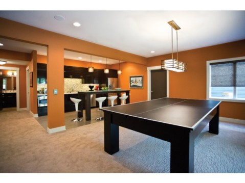 Modern Farmhouse Floor Plan:  Basement Game Room