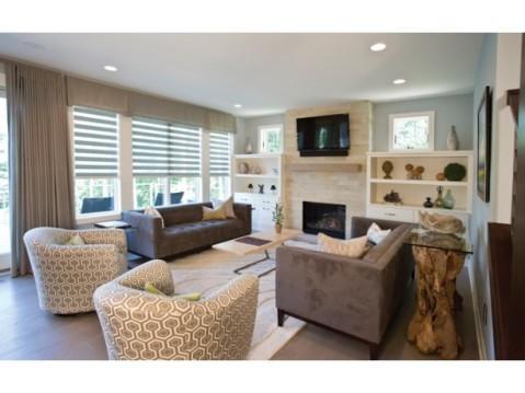 Modern Farmhouse Floor Plan:  Living Room