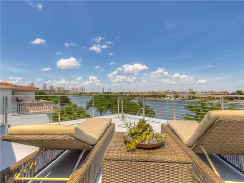 2014 Parade of Homes Modern Furnished Model Home For Sale on Davis Island:  Rooftop Terrace Overlooking Channel and Downtown Tampa