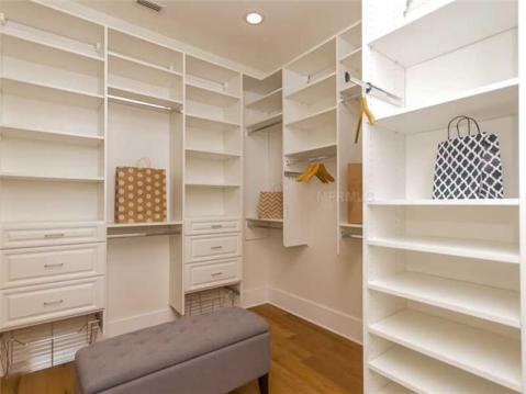 2014 Parade of Homes Modern Furnished Model Home For Sale on Davis Island:  Master Walk In Closet with Custom Shelving