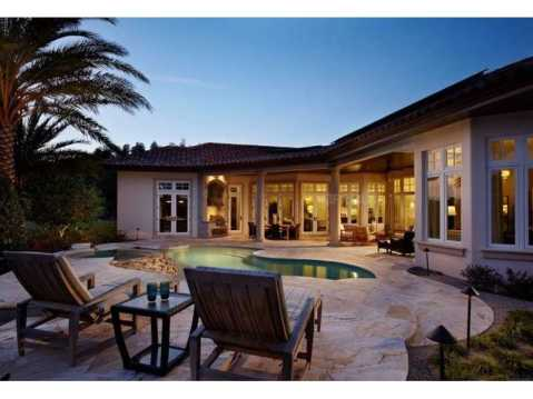 Zero Energy Luxury Home For Sale in Trinity, Florida:  Pool and Patio