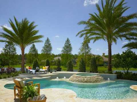 Zero Energy Luxury Home For Sale in Trinity, Florida:  Pool and View
