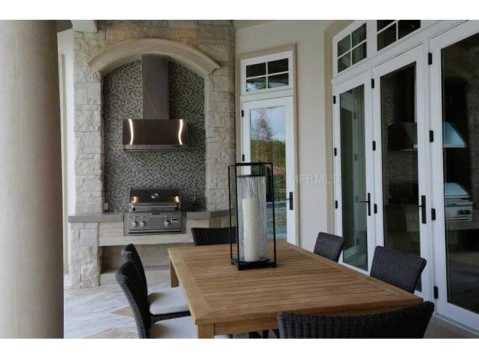 Zero Energy Luxury Home For Sale in Trinity, Florida:  Built In Grill on Covered Patio