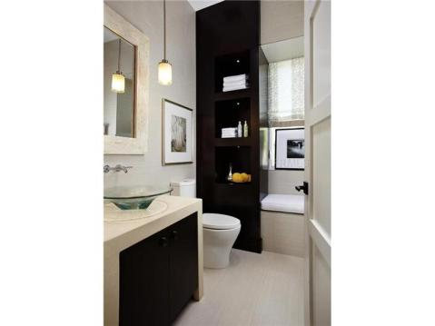 Zero Energy Luxury Home For Sale in Trinity, Florida:  Modern Guest Bath with Built Ins