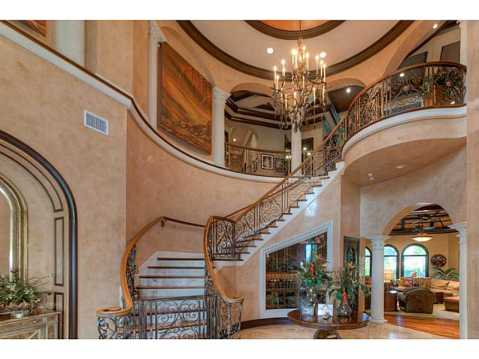 Prestigious Champions Club Home For Sale in Trinity, FL:  Curved Staircase