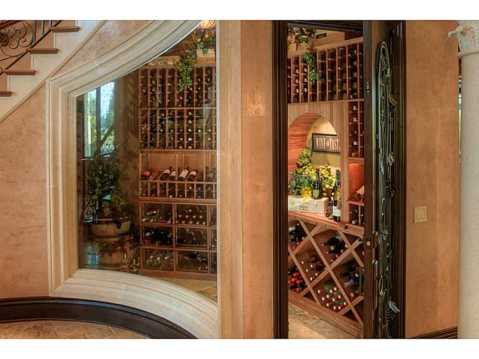 Prestigious Champions Club Home For Sale in Trinity, FL:  Wine Room