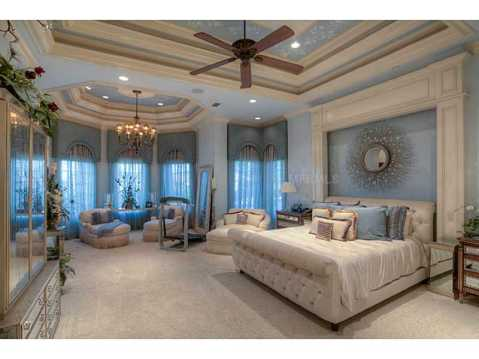 Prestigious Champions Club Home For Sale in Trinity, FL:  Elegant Master Suite