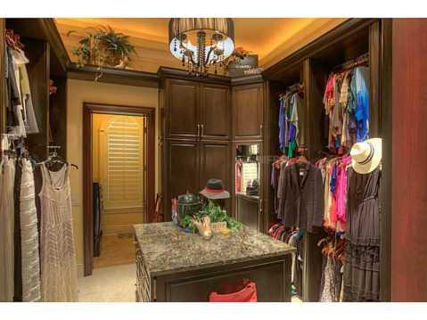 Prestigious Champions Club Home For Sale in Trinity, FL:  Custom Master Walk In Closets