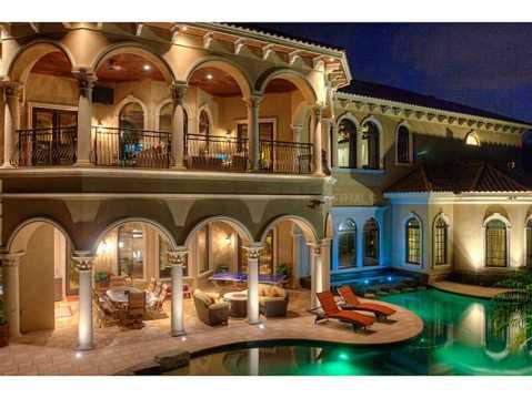 Prestigious Champions Club Home For Sale in Trinity, FL:  Backyard Patios and Pool