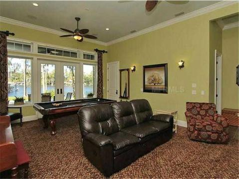Custom Lakefront Home for Sale in Keystone Park Colony:  Game Room