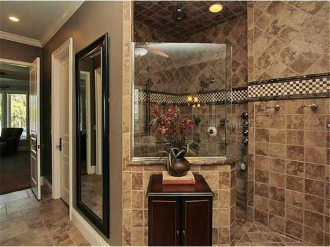 Custom Lakefront Home for Sale in Keystone Park Colony:  Master Bath Walk In Shower