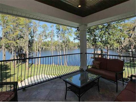 Custom Lakefront Home for Sale in Keystone Park Colony:  Balcony with Lake View