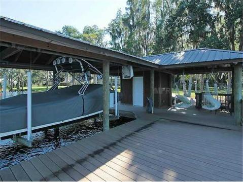 Custom Lakefront Home for Sale in Keystone Park Colony:  Dock with Boat Lift