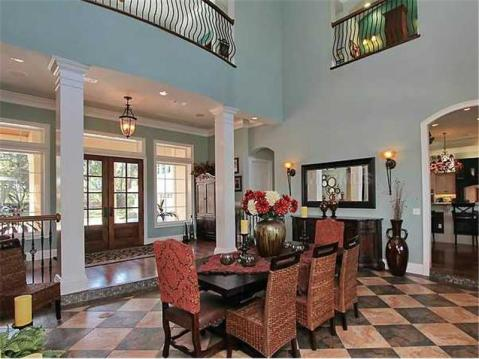 Custom Lakefront Home for Sale in Keystone Park Colony:  Two Story Dining Room