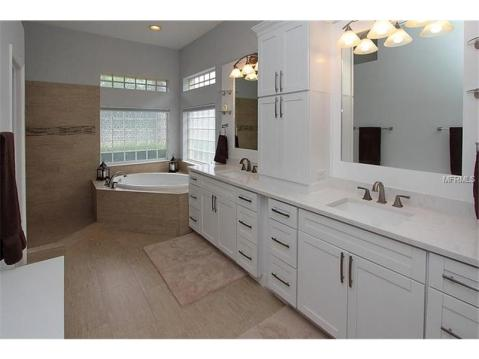 Beautiful Upgraded Tampa Palms Home for Sale:  MASTER BATHROOM